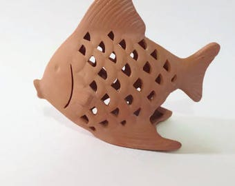 Clay Angelfish Tealight Holder