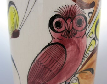 Petit vase Animalier- Années 50- Mexico/ Hand painted