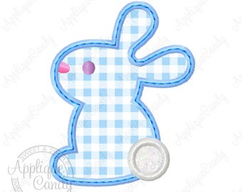 Bunny Rabbit Applique 2 Machine Embroidery Design 4x4 5x7 6x10 Easter INSTANT DOWNLOAD
