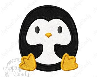 Penguin Applique Machine Embroidery Design 4x4 5x7 6x10 bird antarctica INSTANT DOWNLOAD
