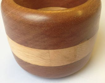 Decorative hand turned wooden bowl