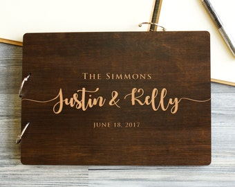 Wedding Guest Book, Rustic Guestbook, Wood Guest Book, Custom Guest Book, Guest book Wedding Calligraphy, Wedding Album, Gift for Couple