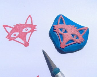 Fox rubber stamp, Fox stamp, woodland animal stamp, forest stamp, animal stamp, woodland fox, cute fox, scrapbooking, cardmaking, diy, fox