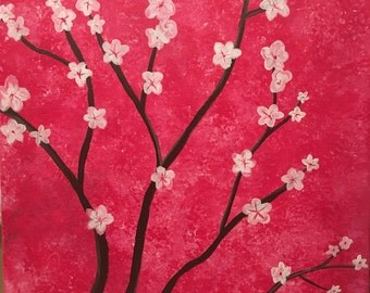 Original Acrylic Cherry Blossoms Painting
