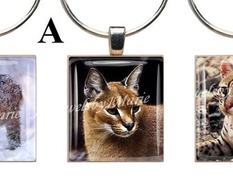 WILD CATS ~ Scrabble Tile Wine Glass Charms ~ Set of 3 Stemware Charms/Markers/Pendants ~ Toast Your Celebration with Style!
