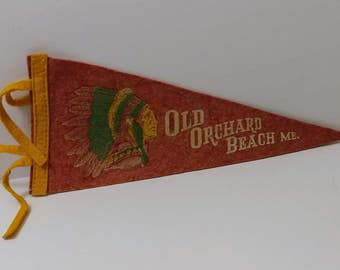 Old Orchard Beach, Maine - Vintage Pennant