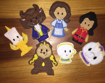 Beauty and the Beast Finger Puppets Set of 7
