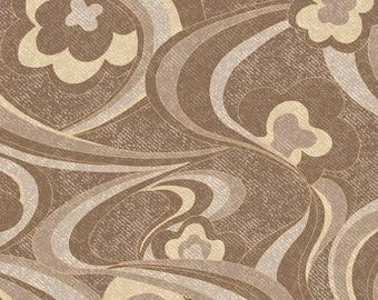 Cranston Village Fabrics PUCCI SWIRL - Brown 100% Cotton Fabric