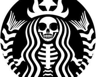 Starbucks skeleton SVG