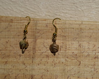 Gold Colored Knotted Earrings