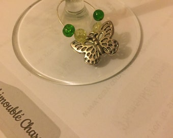 Butterfly Wine Glass Charm