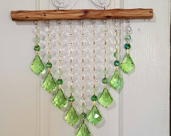 9 Strand Peridot with greens and clear accents