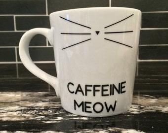 Caffeine Meow Cat Coffee Mug