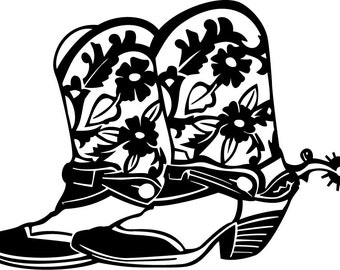 Cowboy Boots- Vinyl Decal - Multiple colors and sizes to choose from!!!