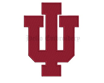 Indiana Hoosiers 9 Size Embroidery Designs College Football Logos Machine Embroidery Pattern
