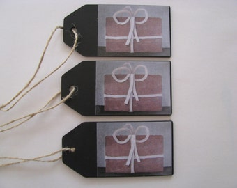 set wooden gift tags, law, laminated image, chalk, for him, for her, gift, painter Hermanus, wood, gift, gift,