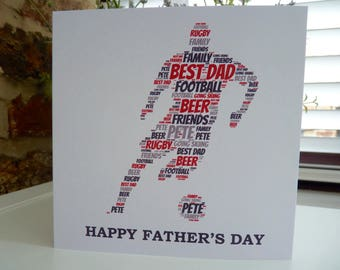 Personalised Father's Day Footballer Card, Personalised Father's Day Card, Football Card, Soccer Player Card