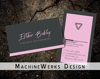 Professional Minimalistic Business Card Design • Calling Card • Photography • Small Business • Classic Business Card • Customizable