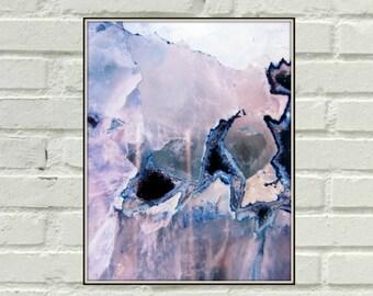 Rock Art, Gemstone Art, Crystal Art Print, Bohemian Wall Art, Mineral Wall Art, Instant Download, Marble Art Print, Mineral Art