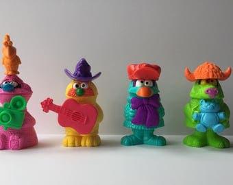 Vintage Muppet Workshop McDonald's Happy Meal Toys Lot Of 4