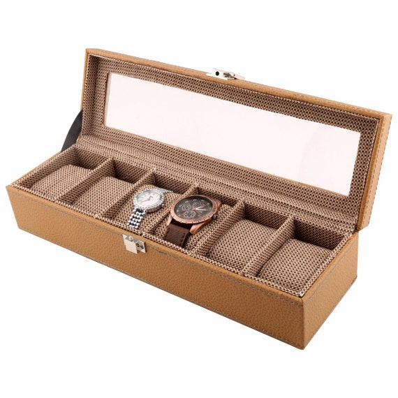 Slim Watch Box for Men, Jewelry Box, Watch Case, Valet Box, Anniversary Present, Christmas Gift, Gift for Husband, modern design