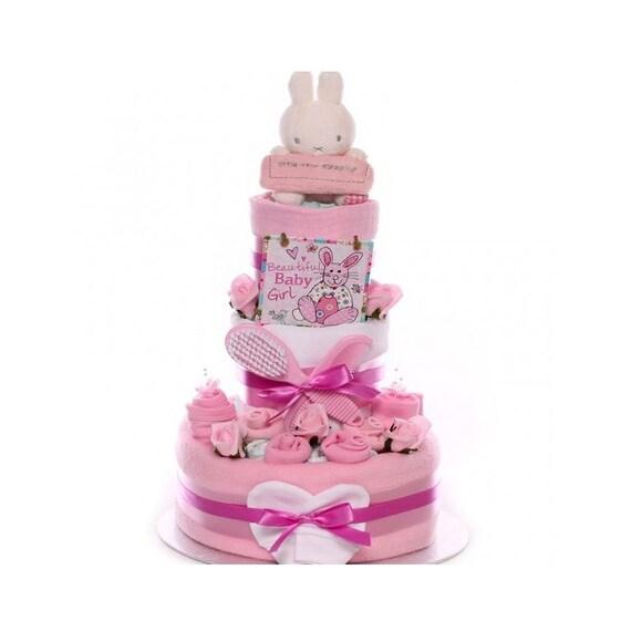 Little Star Sleeping Nappy Cake Baby Girl, nappy cake gift, baby girl nappy cake, nappy cake maternity leave, nappy cake baby shower