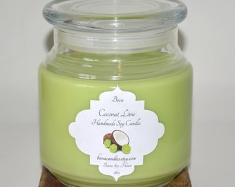 SALE Coconut Lime 16oz Large Soy Candle
