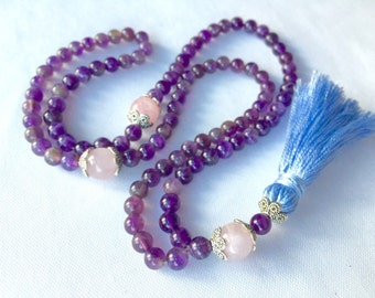 Tasbih - Amethyst Prayer Beads - Purple Tasbeeh - Islamic Prayer Beads - Tesbih - Dhikr Beads - Meditation Beads - Tassel Necklace