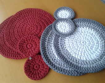 Place mat-salvaplato with coaster game (2 units)
