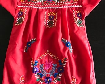 Handmade Girls mexican dress sz 2T