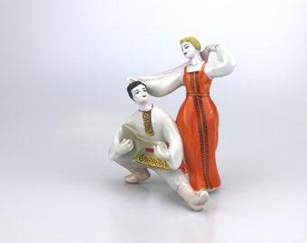 Porcelain dancer figurine Soviet vintage Polonsky ZHK Vintage art ceramics USSR porcelain 1970s soviet union Soviet figurine Fine ceramics