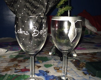 Fifty Shades Of Grey Inspired Wine Glasses