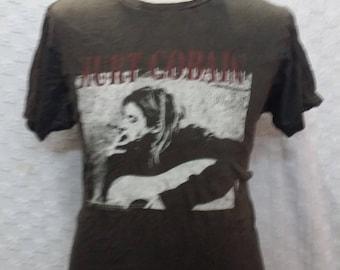 Kurt cobain never die grunge hard rock forever nirvana concert size M(A1)