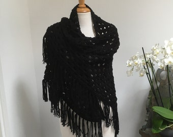 Black Triangle Shawl