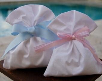 First Communion favor bags. Baptism favor bag.  Cotton bags. SET OF 10