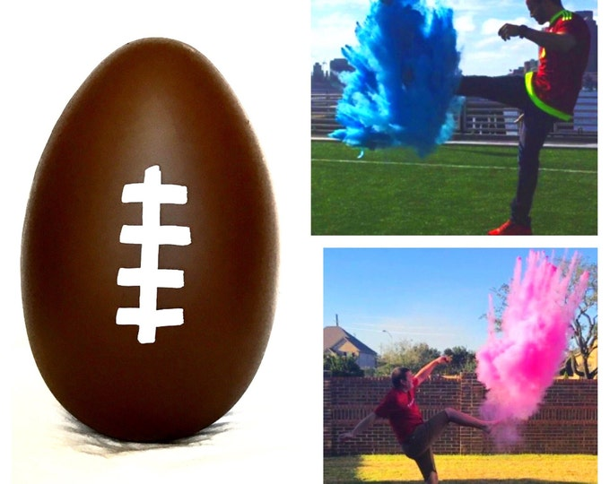 "7.75"" Football Gender Reveal Football with 4x Powder!!!! Gender Reveal Football"