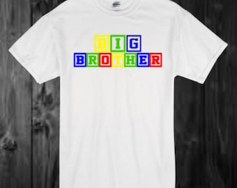 Big Brother & Little brother - blocks - pregnancy announcement - baby announcement - baby shower - new baby - Kids style - Funny quote