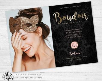 Boudoir Marketing Template, Marketing Board, Mini Session Template, Boudoir Photography, Photoshop, PSD