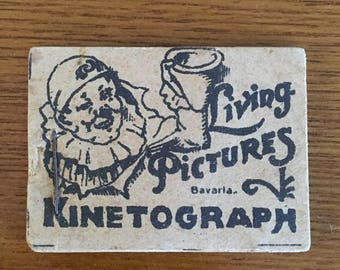 Living Pictures Kinetograph Bavaria- 1900's German Flip Book- Moving Picture Booklet