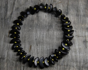 black buri manol bead bracelet