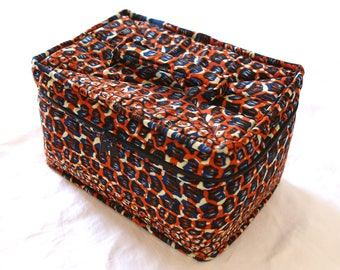 Vanity box / toiletries / makeup / colored Wax / African fabrics / cover