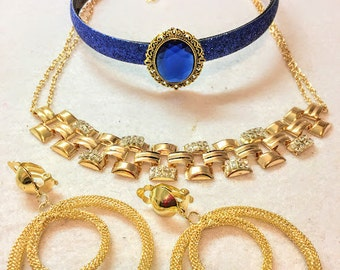 Princess Jasmine's costume set of Headband, necklace Choker and earrings