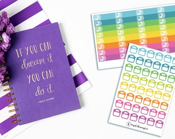 Fitness Tracking Planner Stickers