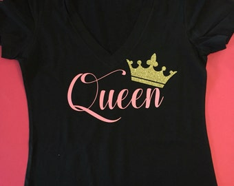 Womens Queen shirt Queen crown shirt