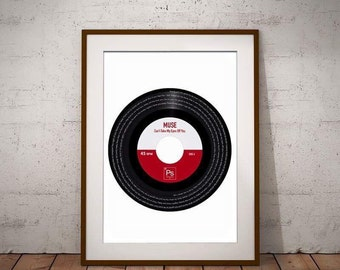 Vinyl Print - memorable song put onto a vinyl record - first dance, our song, wedding present, birth no1, favourite record, anniversary gift
