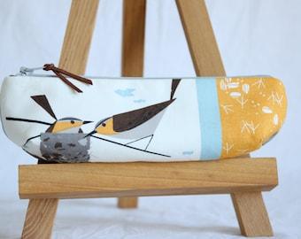 Utensil pocket, pencil case, birds