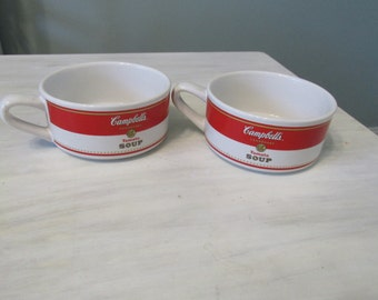 Gift for a Campbells' Soup Fan Set of 2 Soup Mugs in Campbell's Soup by Houston Harvest Gift Products  505