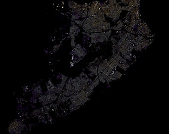 Staten Island abstract map