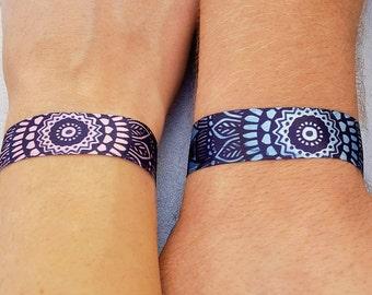 Fabric Mandala bracelet