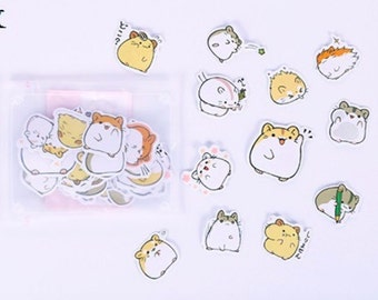 Alideco podgy hamster stickers cute kawaii cartoon animals hamsters
